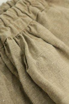 画像4: 【ササキチホ】アンティークリネン 裾タック バレルパンツ(生成り) (4)