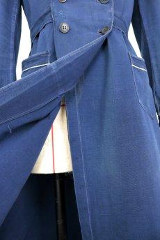 画像9: 【フランス】20世紀初頭 インディゴコットンのスクールコートドレス(学校の制服) (9)