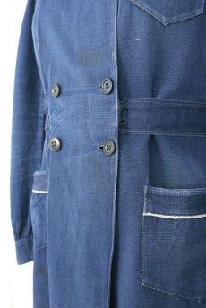 画像6: 【フランス】20世紀初頭 インディゴコットンのスクールコートドレス(学校の制服) (6)
