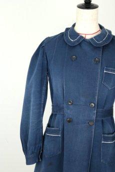 画像3: 【フランス】20世紀初頭 インディゴコットンのスクールコートドレス(学校の制服) (3)