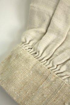 画像12: 【フランス】20世紀初頭のアンティークリネン スモックロングシャツ(白色) (12)