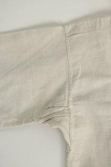画像4: 【フランス】20世紀初頭のアンティークリネン スモックロングシャツ(白色) (4)