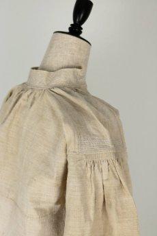 画像15: 【フランス】アンティーク 19世紀のリネンスモックシャツ(生成り) (15)