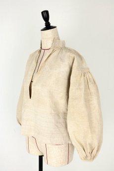 画像6: 【フランス】アンティーク 19世紀のリネンスモックシャツ(生成り) (6)