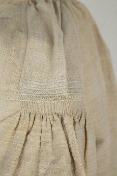 画像10: 【フランス】アンティーク 19世紀のリネンスモックシャツ(生成り) (10)