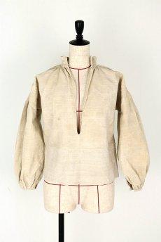 画像2: 【フランス】アンティーク 19世紀のリネンスモックシャツ(生成り) (2)
