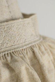 画像13: 【フランス】アンティーク 19世紀のリネンスモックシャツ(生成り) (13)