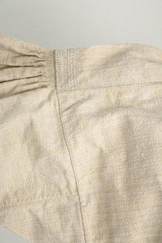 画像5: 【フランス】アンティーク 19世紀のリネンスモックシャツ(生成り) (5)