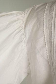 画像6: 【フランス】アンティークコットン ボリュームスリーブ クラシックブラウス(白) (6)