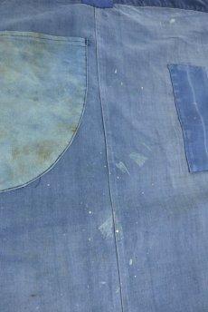 画像8: 【フランス】1950年代の手作りされたブルーワークエプロン (8)