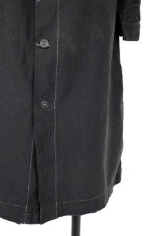 画像10: 【フランス】1940年代頃 後ろボタン ブラックワークドレス(割烹着スタイル) (10)