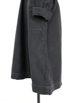 画像7: 【フランス】1940年代頃 後ろボタン ブラックワークドレス(割烹着スタイル) (7)