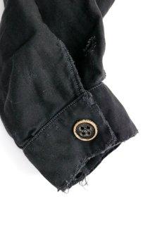 画像14: 【フランス】1940年代頃 後ろボタン ブラックワークドレス(割烹着スタイル) (14)