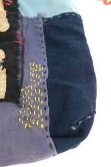 画像5: 【ササキチホ】古布 フリンジ パッチワーク巾着 (5)