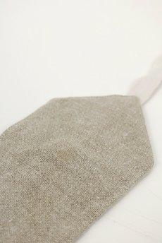 画像3: 【ササキチホ】手織りアンティークリネン ウエストマーク 帯ベルト(生成り) (3)