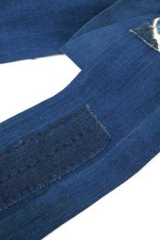 画像6: 【ササキチホ】藍染古布 ターバンヘアバン(濃藍と藍/2トーン) (6)