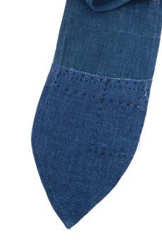 画像4: 【ササキチホ】藍染古布 ターバンヘアバン(濃藍と藍/2トーン) (4)