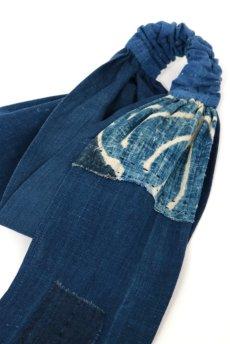 画像3: 【ササキチホ】藍染古布 ターバンヘアバン(濃藍と藍/2トーン) (3)