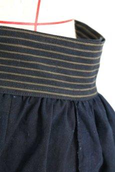 画像8: 【ササキチホ】藍染古布 ウエストマーク ロング巻きスカート(濃藍色) (8)