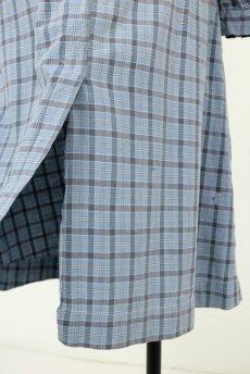 画像13: 【フランス】1950年代頃 パッチワーク チェック柄 ワークドレス(水色) (13)