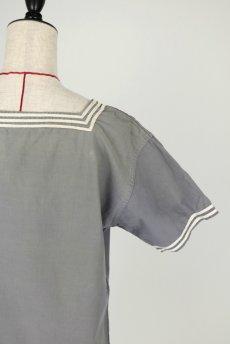 画像8: 【フランス】1950年代 海軍マリンシャツ(グレー) (8)