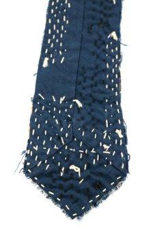 画像7: 【MITSUGU SASAKI】BORO古布 刺し子だらけのネクタイ (7)