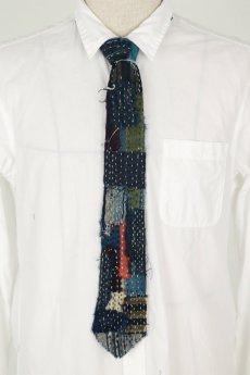 画像9: 【MITSUGU SASAKI】BORO古布 刺し子だらけのネクタイ (9)