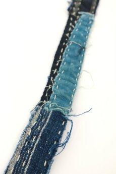 画像8: 【MITSUGU SASAKI】BORO古布 刺し子だらけのネクタイ (8)