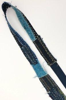 画像5: 【MITSUGU SASAKI】BORO古布 刺し子だらけのネクタイ (5)