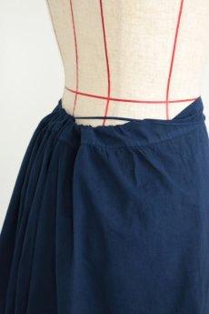 画像10: 【フランス】アンティークコットン インナースカート(後染め/紺色) (10)