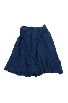 画像1: 【フランス】アンティークコットン インナースカート(後染め/紺色) (1)