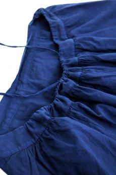 画像6: 【フランス】アンティークコットン インナースカート(後染め/紺色) (6)