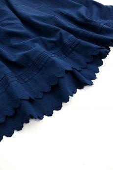 画像3: 【フランス】アンティークコットン インナースカート(後染め/紺色) (3)