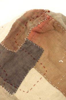 画像12: 【MITSUGU SASAKI】アンティークリネン×古布×刺し子 紅白ショルダーバッグ(リバーシブル) (12)