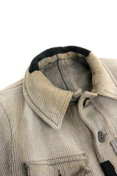 画像2: 【MITSUGU SASAKI】ビンテージリメイク パッチワーク グレー ハンティングジャケット (女性用) (2)