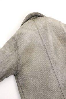 画像8: 【MITSUGU SASAKI】ビンテージリメイク パッチワーク グレー ハンティングジャケット (女性用) (8)