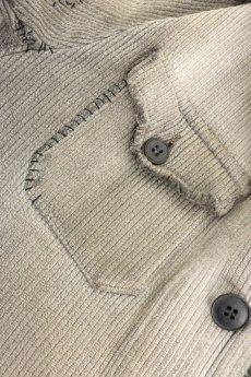 画像10: 【MITSUGU SASAKI】ビンテージリメイク パッチワーク グレー ハンティングジャケット (女性用) (10)