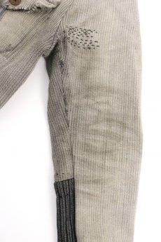 画像7: 【MITSUGU SASAKI】ビンテージリメイク パッチワーク グレー ハンティングジャケット (女性用) (7)