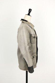 画像14: 【MITSUGU SASAKI】ビンテージリメイク パッチワーク グレー ハンティングジャケット (女性用) (14)
