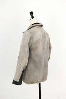 画像13: 【MITSUGU SASAKI】ビンテージリメイク パッチワーク グレー ハンティングジャケット (女性用) (13)