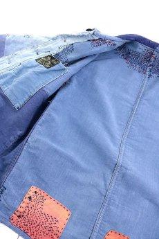 画像13: 【MITSUGU SASAKI】クレイジー刺し子 ブルーモールスキン ワークジャケット(LE MONT St MICHEL) (13)