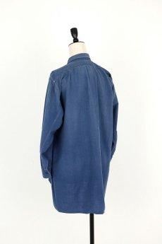 画像10: 【フランス】1950年代頃のブルーコットン 長袖ワークシャツ (10)