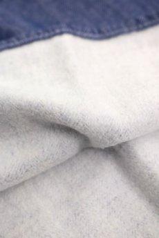 画像5: 【ドイツ】ビンテージ フィッシャーマンズ スモックシャツ(裏起毛/ヘリンボーン) (5)