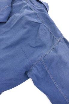 画像8: 【フランス】1950年代頃のブルーコットン 長袖ワークシャツ (8)