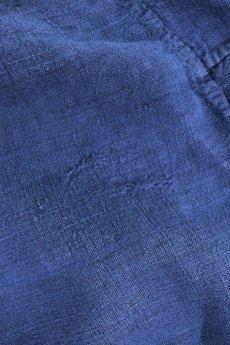 画像7: 【フランス】アンティークリネン×染 パッチワークリペア ハーフ袖ワンピース(紺) (7)