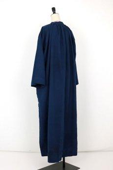画像10: 【フランス】20世紀中期の教会用ロングスモックドレス(後染め/紺色) (10)