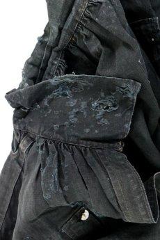 画像20: 【MITSUGU SASAKI】アンティーク×リペア 19世期末のインディゴ リネンパッチワークスモック (20)
