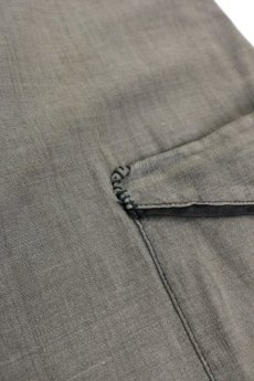 画像7: 【MITSUGU SASAKI】ビンテージ リメイク パッチワーク 丸襟ブラックシャンブレー ワークコート (7)