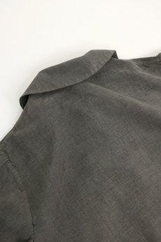 画像10: 【MITSUGU SASAKI】ビンテージ リメイク パッチワーク 丸襟ブラックシャンブレー ワークコート (10)