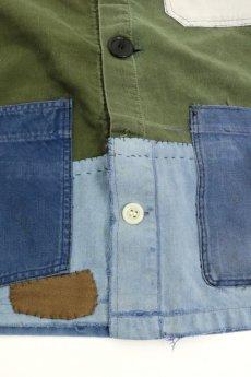 画像3: 【MITSUGU SASAKI】ビンテージリメイク パッチワーク ワークジャケット(ミリタリー ファブリック) (3)